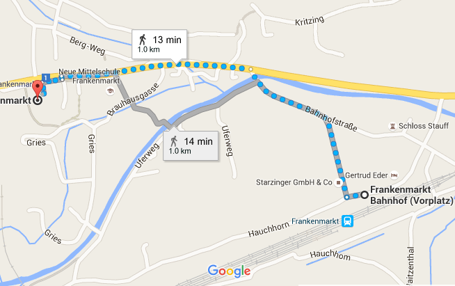 Map Frankenmarkt